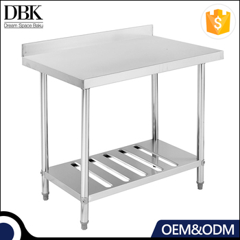 Restaurant kitchen stainless steel Work Bench/Work table With Splashback