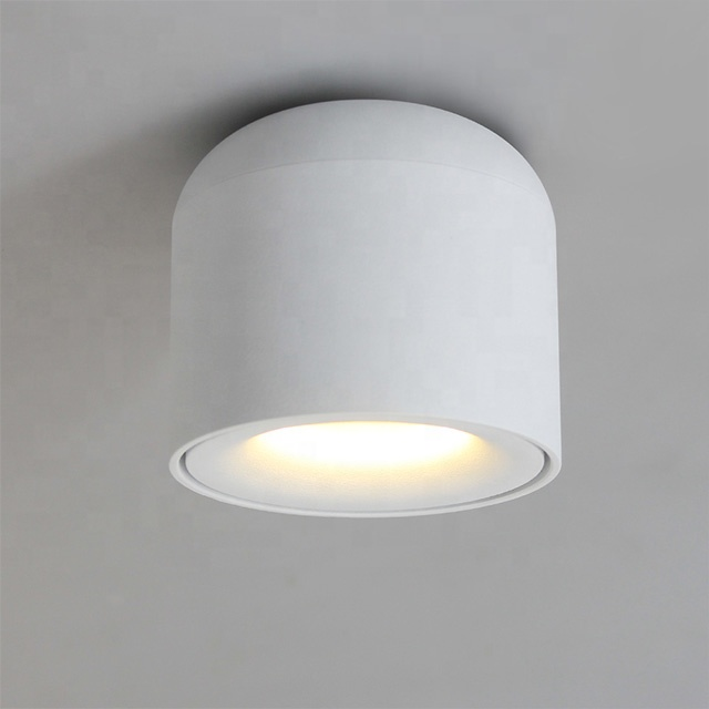 White 7W COB Ceiling Spotlight for Kitchen bathroom Bedroom hotel corridor Surface Mounted LED <strong>Downlight</strong>
