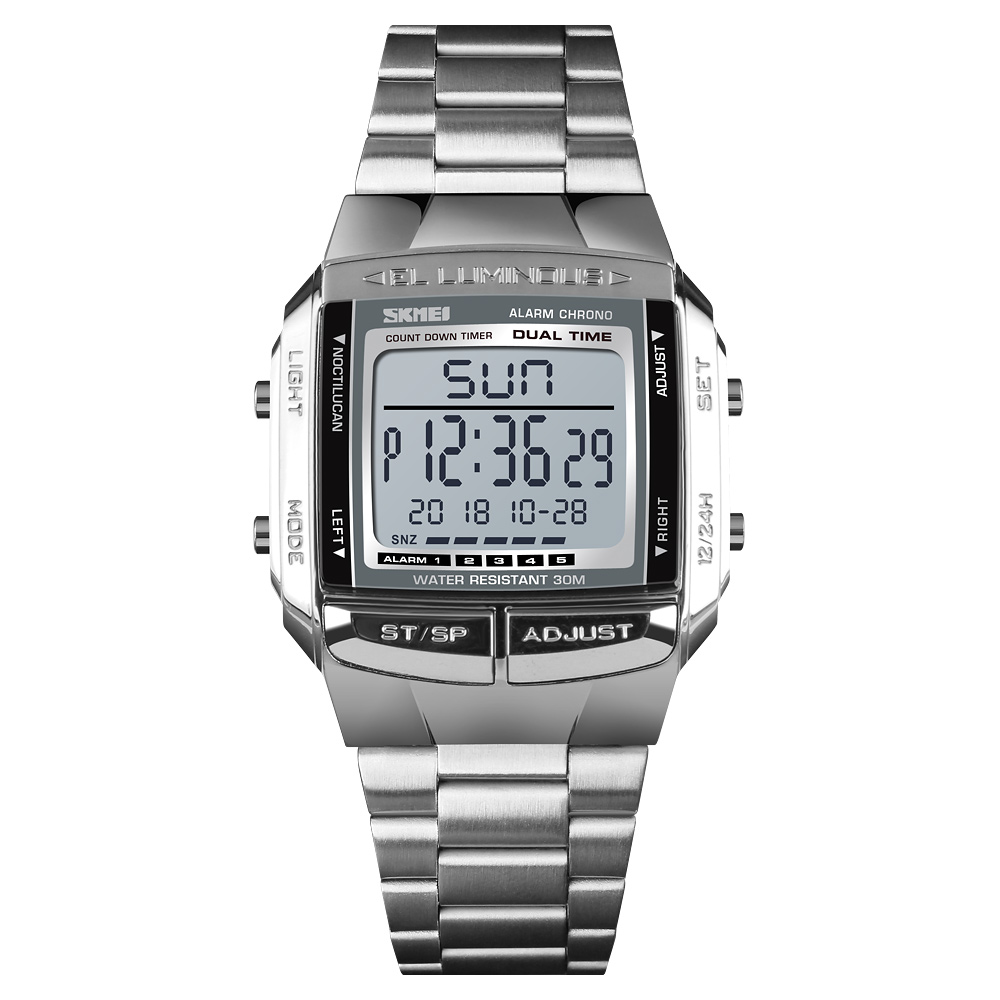 Fashion hot sell China skmei 1381 digital cheap Relojes Hombre Wristwatch for men in bulk sport 3atm Water Resistant