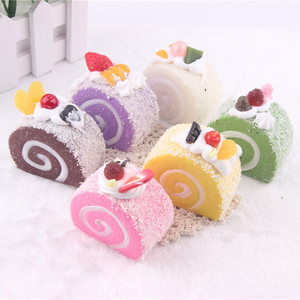 Cheap Cake Squishies Slow Rising Slice Jumbo Squeezing kawaii Toy Cream Scented Lovely Toy