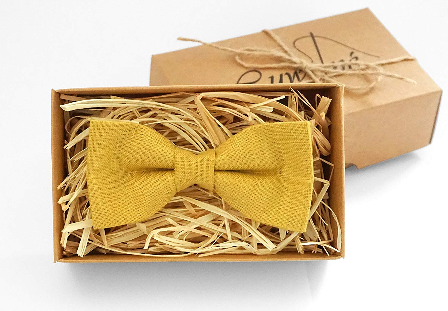 34db49083c86 Get Quotations · Mustard yellow bow tie - mustard wedding bow tie bridal  party bow tie mens mustard bow