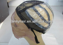 100% human hair full lace wigs cap with ear stretch