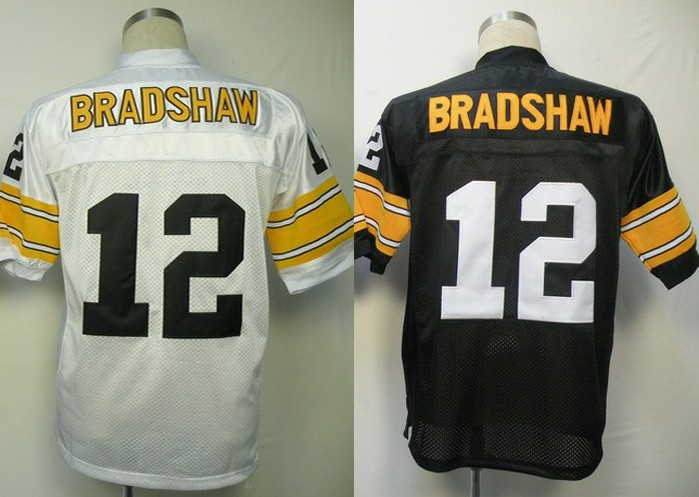 c4f758f466c Pittsburgh #12 Terry Bradshaw Jersey Throwback American Football Jersey  Stitched Logo Embroidery Retro Authentic Sports Jersey