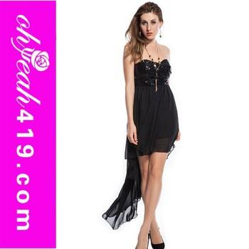 Billige Kurze Vor Lange Zurück Prom Abendkleid Bein Offen Kleid ...
