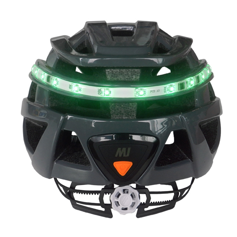 In Mold Full Color LED Light Smart Bike Helmet