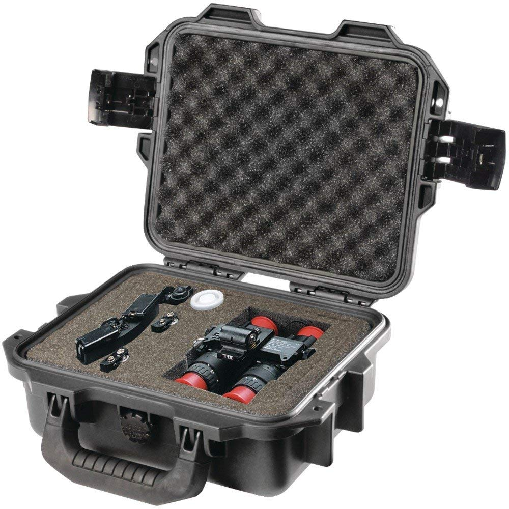 1 - 2050 Case with Foam (Black), Watertight, crushproof & dustproof , Unique press & pull latches open with the push of a button yet stay closed securely under impact or stress, IM2050-00001