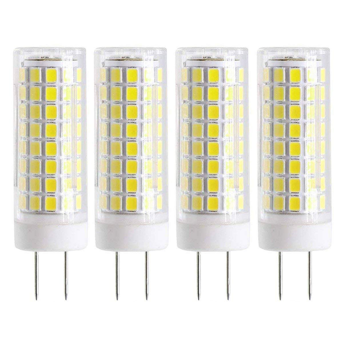 New G8 LED Bulb, Dimmable 7W G8 Bulb, GY8.6 75W Halogen Bulb Replacement, 120V G8 75Watt 750 LM White 6000K (4-Pack)