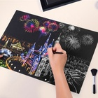 Scratch To Reveal City Skyline Handmade Art Color Changing Magic Scratch Art Paper