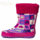 China wholesale cotton lining dark red winter warm waterproof cheap neoprene rubber wellington boots