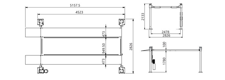 outdoor Hydraulic Four Post 2 level parking Lift For Garage
