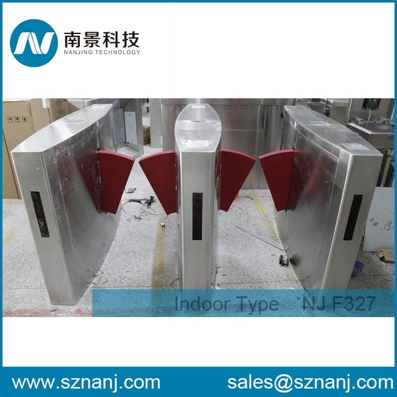 rfid flap gate turnstile for company office and hotel