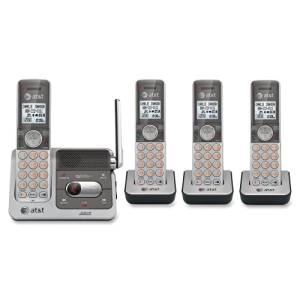 """At&T Cl82401 Dect Cordless Phone . Silver, Black . Cordless . 1 X Phone Line . 4 X Handset . Speakerphone . Answering Machine . Caller Id . Backlight """"Product Type: Phones/Analog & Digital Phones"""""""