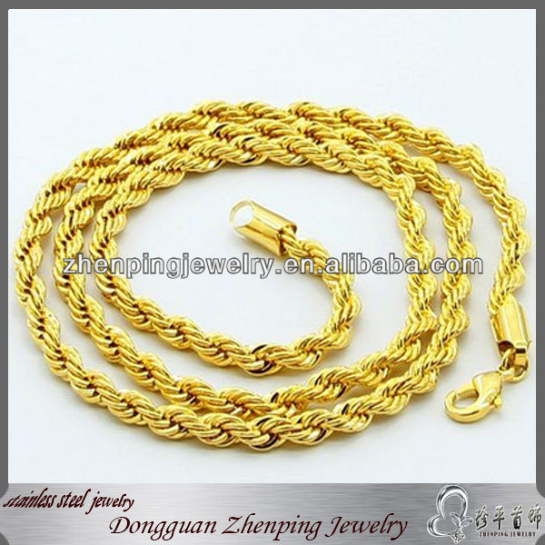 Gold filled rope chain 20 inches