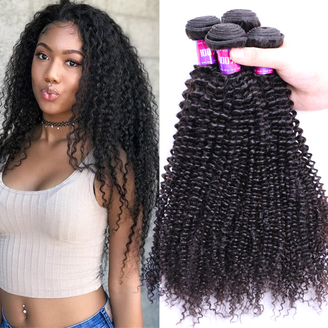4Bundles 9A Grade Afro Kinky Curly Human Raw Virgin Cuticle Wholesale 100% Natural Short Kinky Curly Indian Hair Extensions