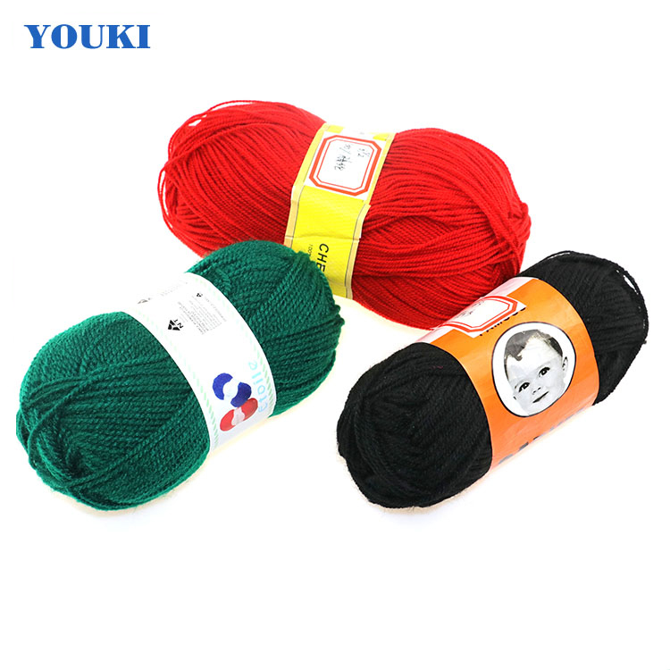 Wholesale Crochet Yarn Cotton Acrylicpolyester Knitting Yarn Hand