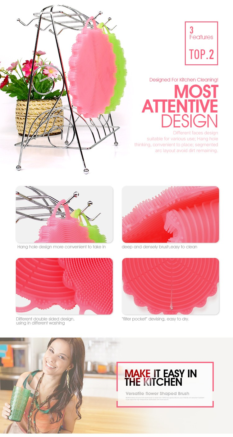 Quality Soft Heat-resistant Silicone Full Circle Dish Brush Shenzhen ...