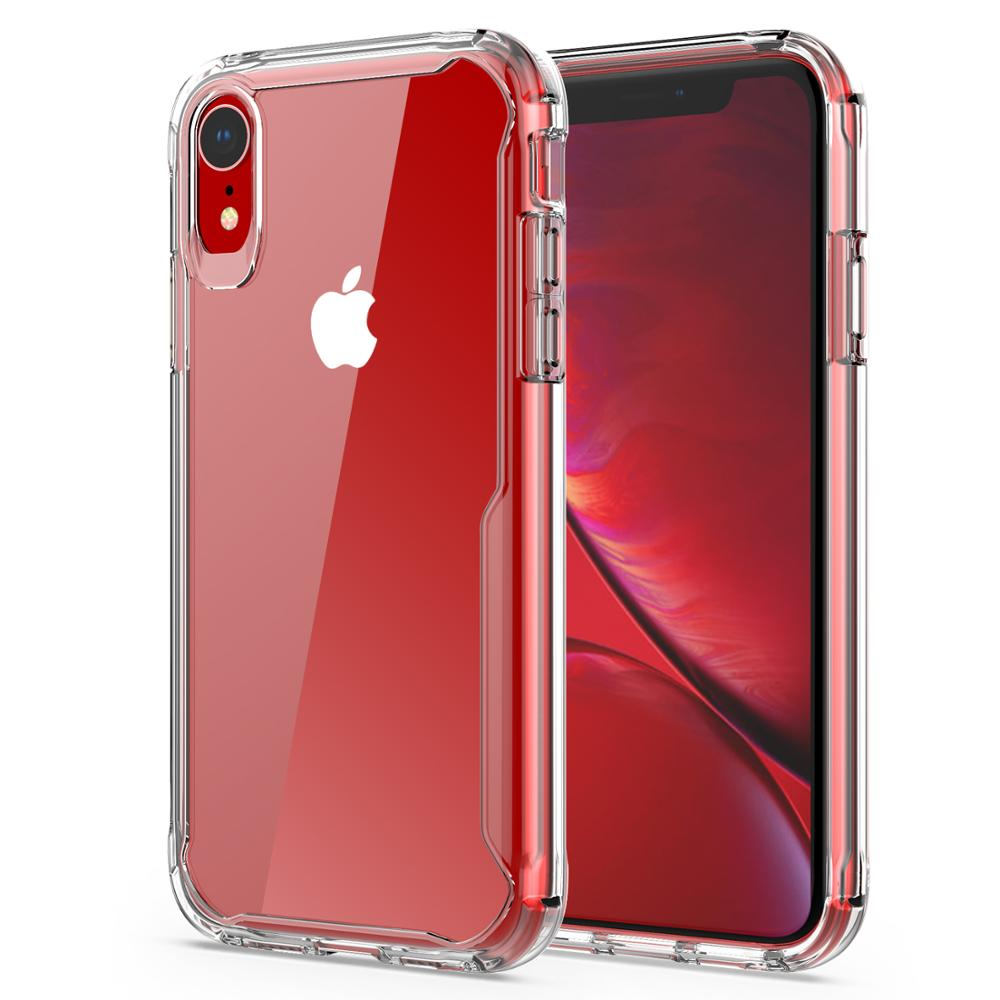 Crystal Clear Hybrid Mobile Shockproof Cell Phone Back Cover for iPhone XR <strong>Case</strong>