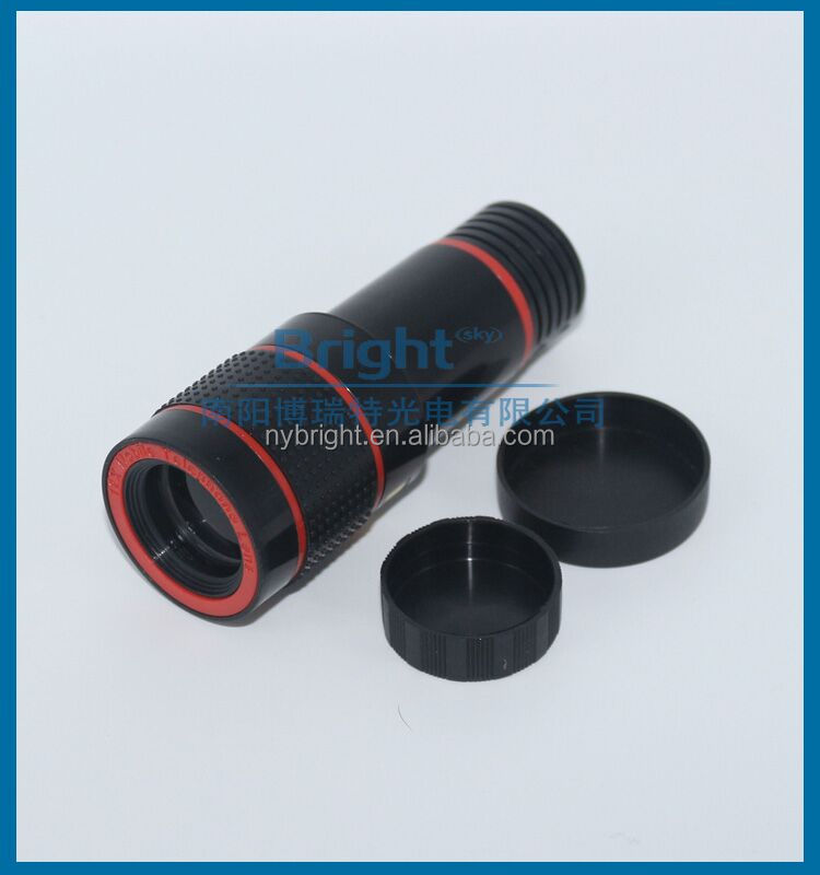 Cell Phone Camera Lens 8X Telephone Telescope Monocular Black and <strong>Orange</strong>