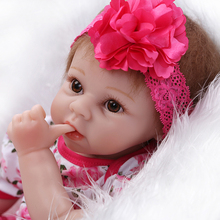 Reborn Baby Doll Realistic Soft Silicone Reborn Babies Girl 22 Inch 55cm Adorable Kids Brinquedos