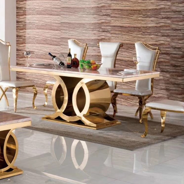Hot Sale New Luxury Dining Room Furniture Dining Tables Dining Room Sets 6 Dining Chairs Marble Dining Table Set Modern Buy Dining Table Set Dining Tables Hot Sale New Luxury Dining Room Furniture Dining Tables