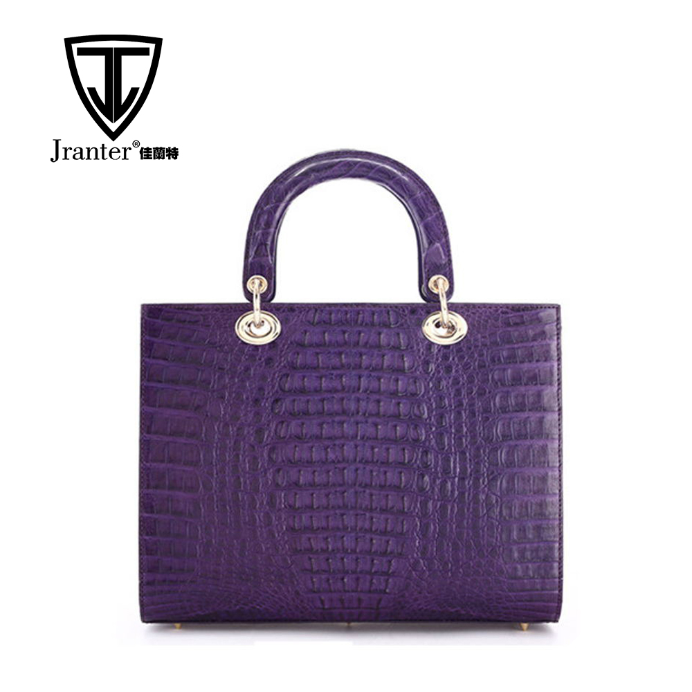 New Brand Handbag Crocodile Leather Handbags Genuine Leather Tote Bag For Women