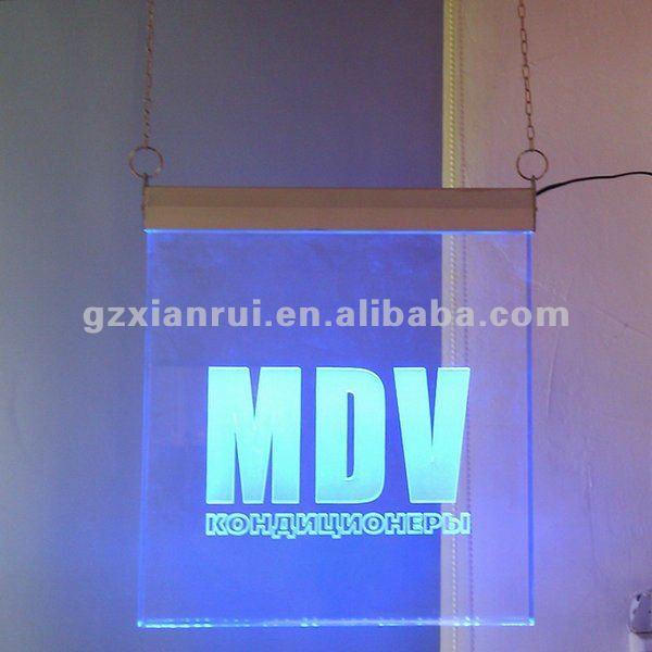 Crystal Acrylic Led Engraved Menu Board