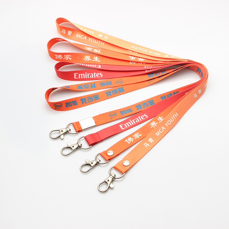 OEM Custom Eco-friendly polyester screen organic cotton lanyard