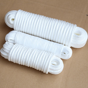High quality international standard PP rope, pure white braided rope for mooring