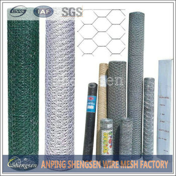 Hexagonal Wire Netting Used As Make Cages And Protect Poultry In ...