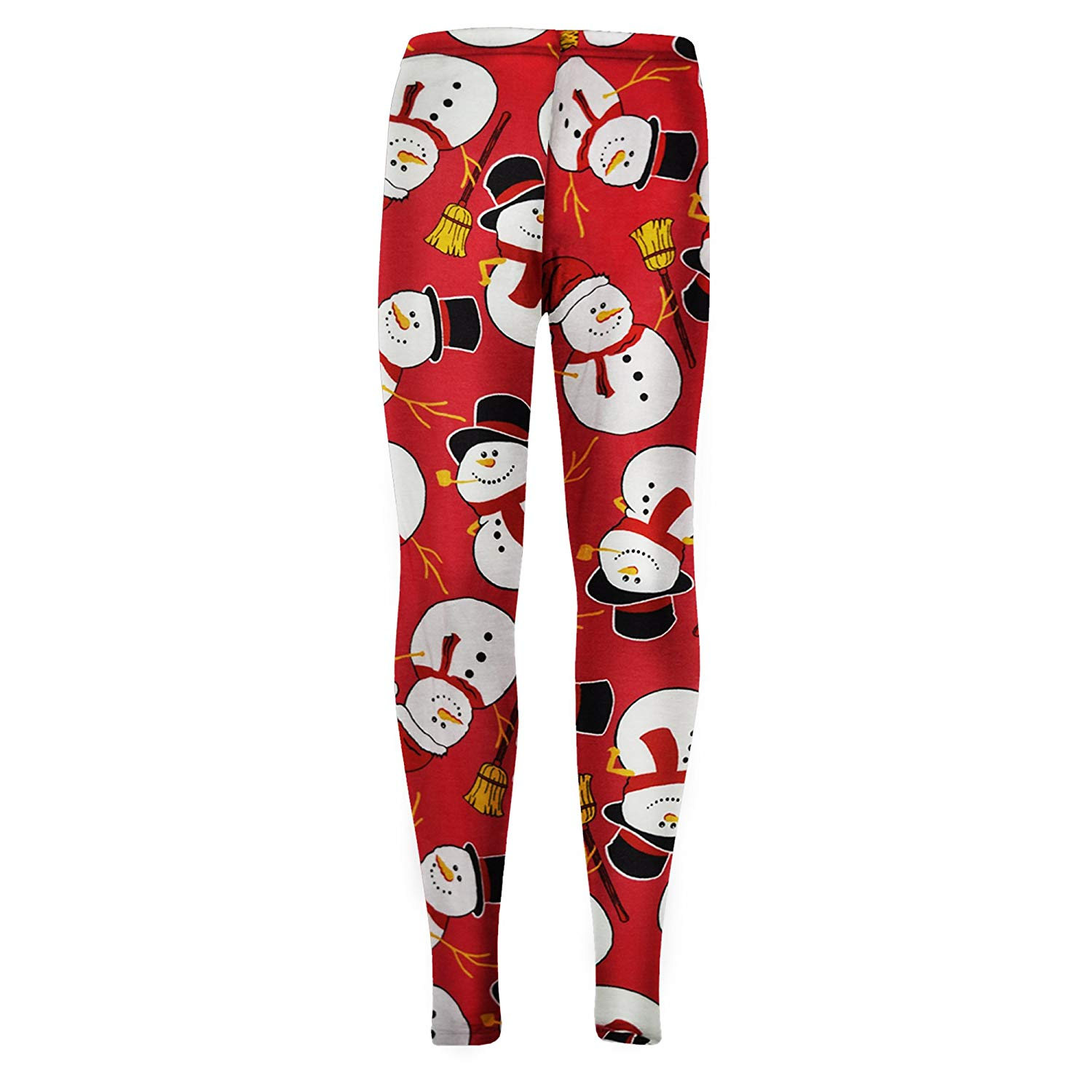 46b81b47a Kids Girls Christmas Dress Santa Snowman Penguin Print Xmas Dresses &  Leggings