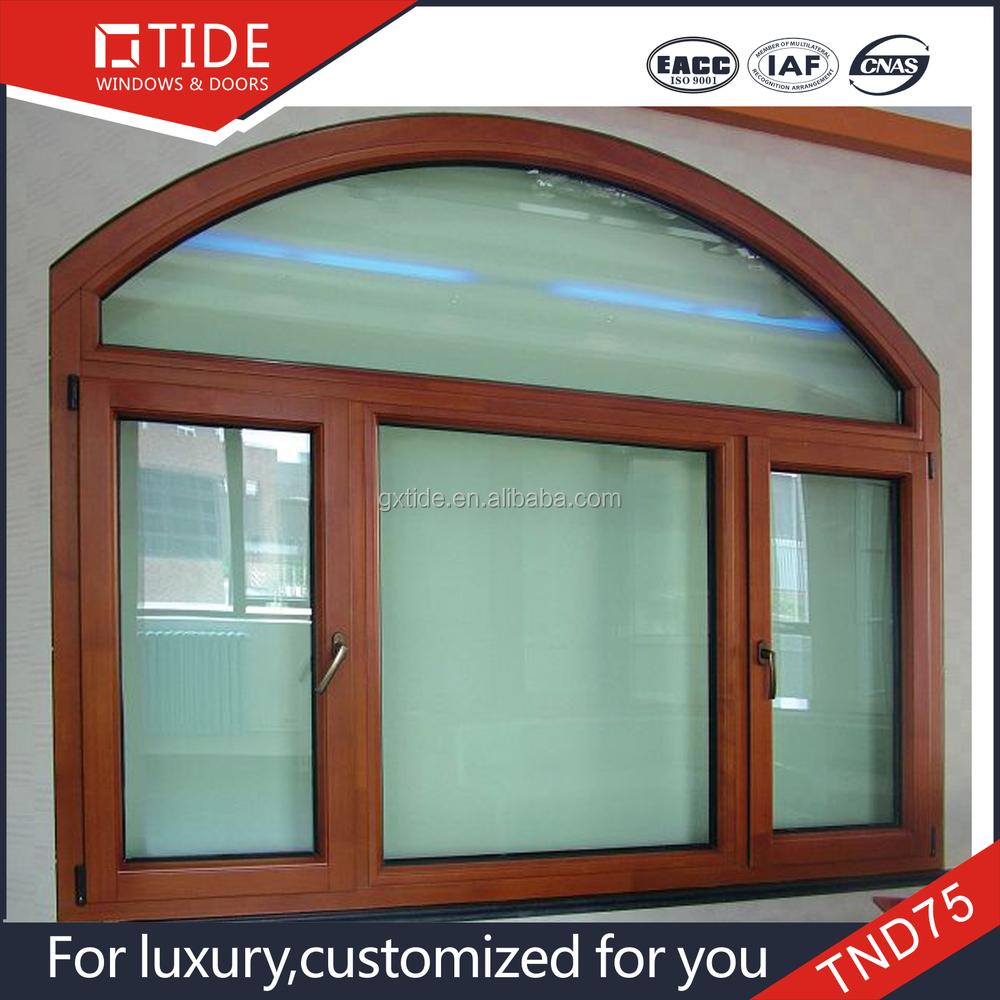 De alta calidad de la forma redonda de aluminio ventanas for Ventanas de aluminio con marco de madera