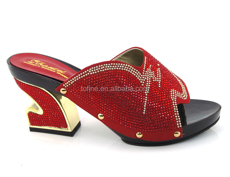 Fashion nice wholesale new red shoes women heel in good quality