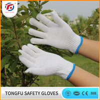 High quality factory price knitted string gloves cotton / driving hand gloves cotton