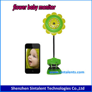 185 Degree p2p ip micro camera wireless baby monitor with smart phone viewing