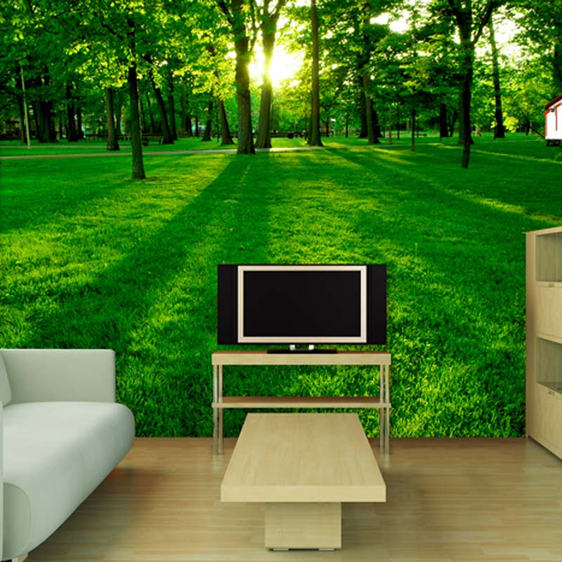 TV Backdrop Painted Natural Scenery Living Room Sofa