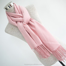 Luxury Tasseled Pink Fake Cashmere 100 polyester fluffy scarf shawl with various color options for office lady