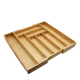 bamboo cutlery tray with 8 slots, drawer organizer