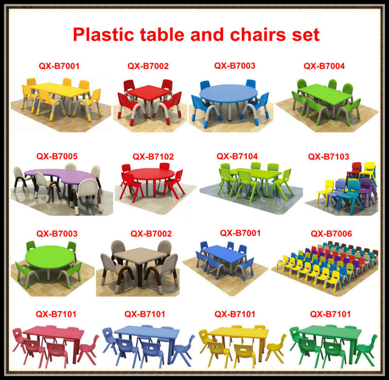 School Furniture Manufacturer Plastic Party Table Nursery School