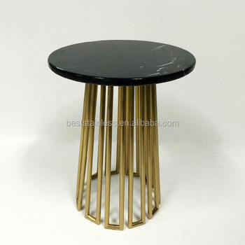 Moroccan Style Tall Coffee Tables Round Marble Top Table