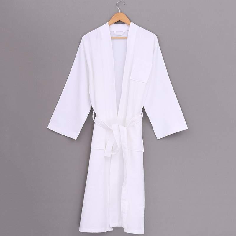 custom fancy lightweight waffle cheap deluxe luxury white or color spa shower couple bath robe