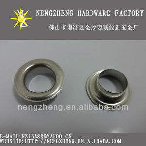20.5mm nickel stainless steel metal eyelet/washer with competitive price