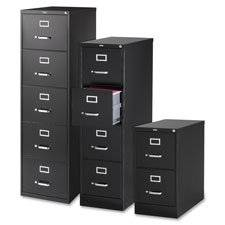 "Vertical File, 5-Drawer, Ltr, 15""""x26-1/2""""x61-3/8"""", Black, Sold as 1 Each"