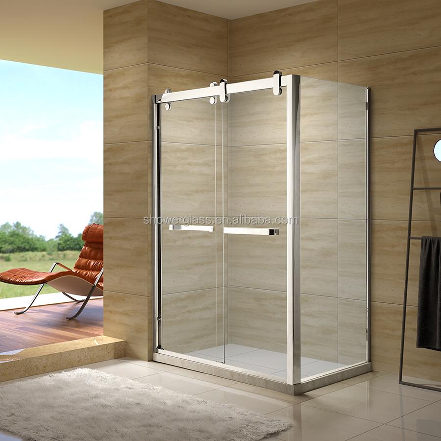 Sliding Frameless Shower Roomdoorenclosure Glass Bathroom