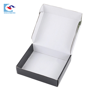 Elegant custom logo garment corrugated shipping paper box