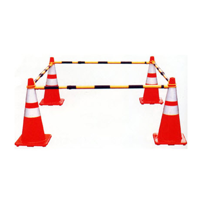 plastic fixed traffic cone bar