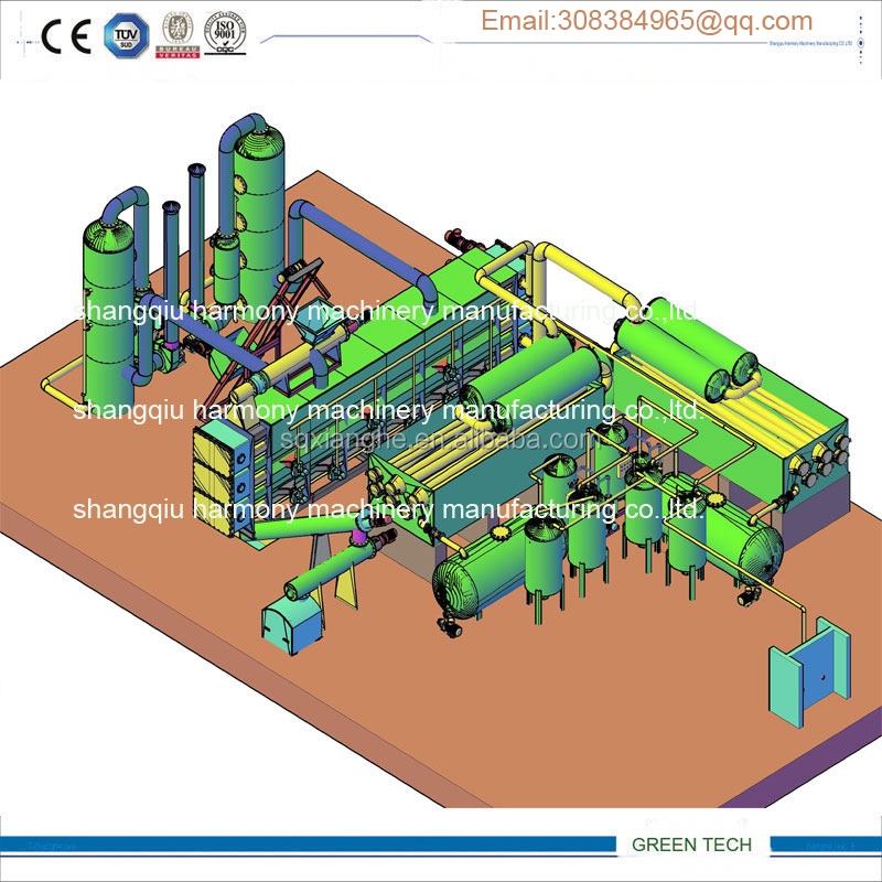 Large capacity Crude oil plant Refining Residual Making diesel and petrol continuously 24hours and 365 days