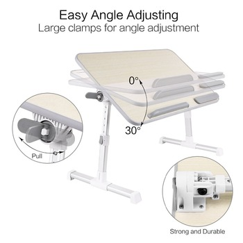 Portable High Quality Height Adjustable Laptop Desk Stand For Bed
