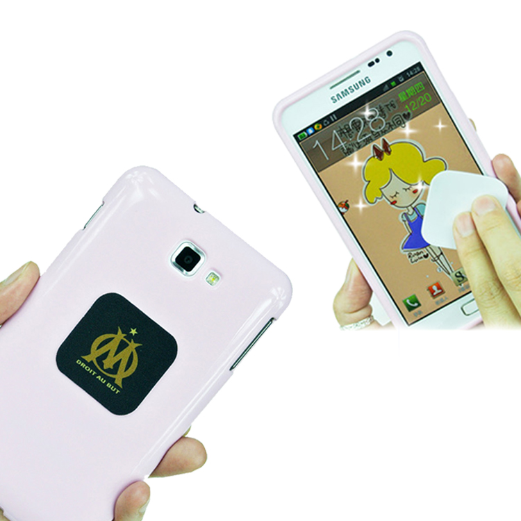 oem 3d microfiber sticky cell phone screen sticker