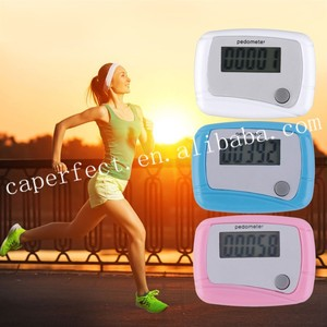 Portable digital lcd screen display pedometer with one button