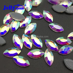 Factory Supply Glass Material 3*6mm/ 4*8mm Horse Eye Crystal AB Rhinestones